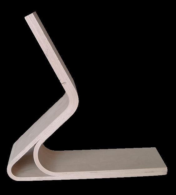prototipo gamba doppia curva in compensato