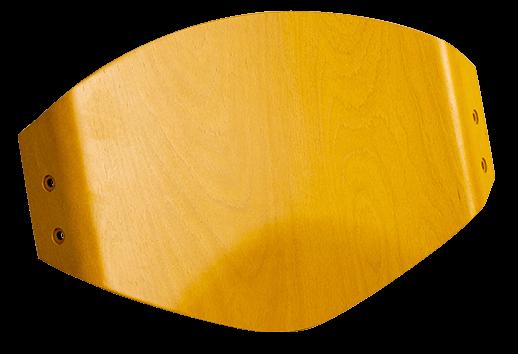 schienale in compensato di faggio color giallo